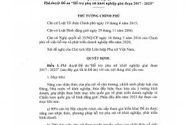 """Quyết định số 939/QĐ-TTg ngày 30 tháng 6 năm 2017 của Thủ tướng Chính phủ về phê duyệt đề án  """"Hỗ trợ phụ nữ khởi nghiệp giai đoạn 2017 – 2025"""""""