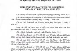 Nghị quyết số 06/2021/NQ-HĐND về kéo dài thời gian thực hiện Nghị quyết số 10/2017/NQ-HĐND