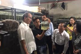 Cơ sở nuôi cá kiểng xuất khẩu của Anh Lê Hữu Thiện,  Xã Tân Thông Hội, Huyện Củ Chi
