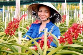 Vườn lan kết hợp du lịch sinh thái của Chị Đặng Lê Thị Thanh Huyền, Xã An Nhơn Tây, Huyện Củ Chi