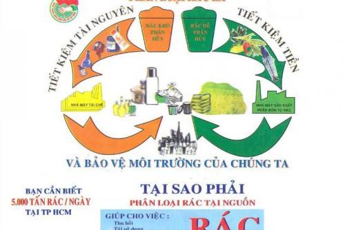 Thành phố Hồ Chí Minh phấn đấu đến năm 2020  hoàn thành phân loại chất thải rắn sinh hoạt tại nguồn
